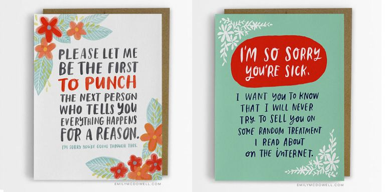 cancer survivor designs brilliant range of empathy cards