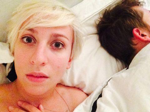 Katie Burnetts takes an aftersex selfie