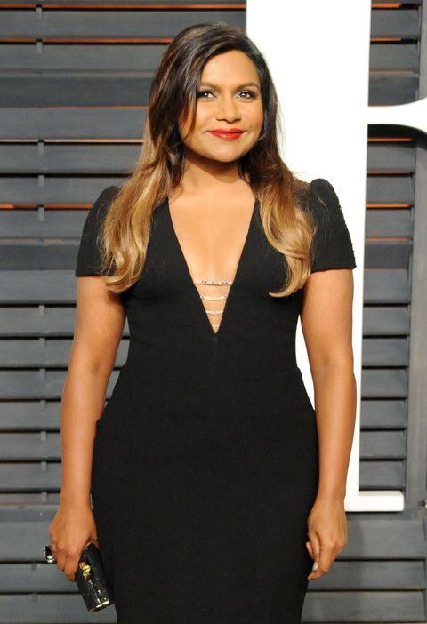 Mindy Kaling at the Vanity Fair Oscar party 2015