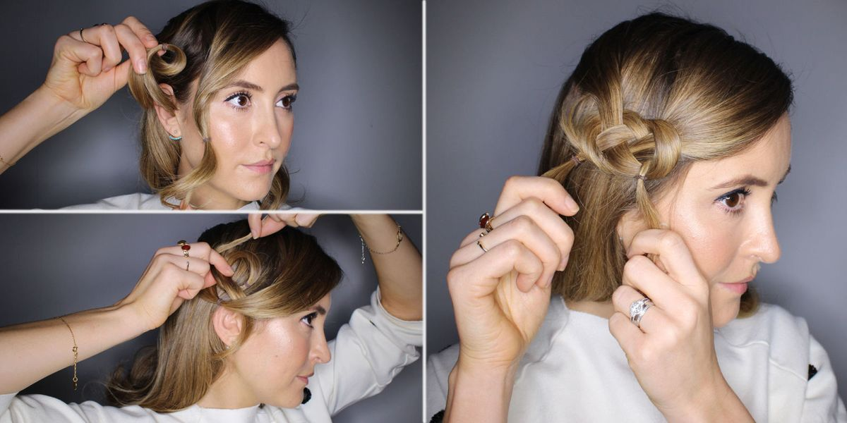 How To Do A Figure Of 8 Knot Hair Tutorial