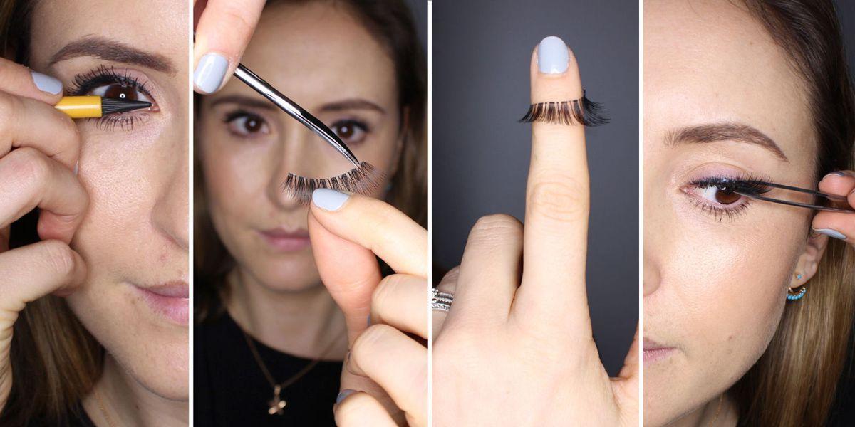 How To Apply False Eyelashes Expert Fake Eyelash Application Tips