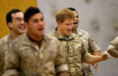 Please enjoy these pictures of Prince Harry doing the haka