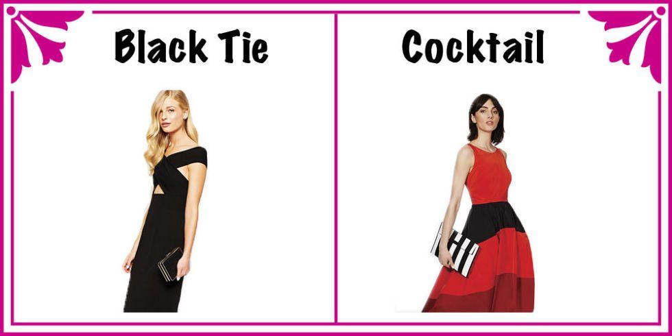Black Tie Formal Cocktail Dresses