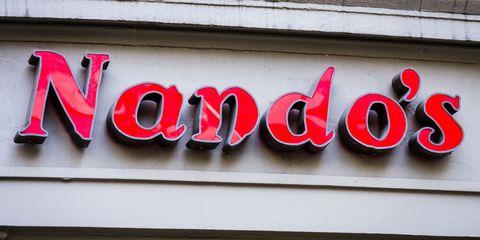 Nando's restaurant sign