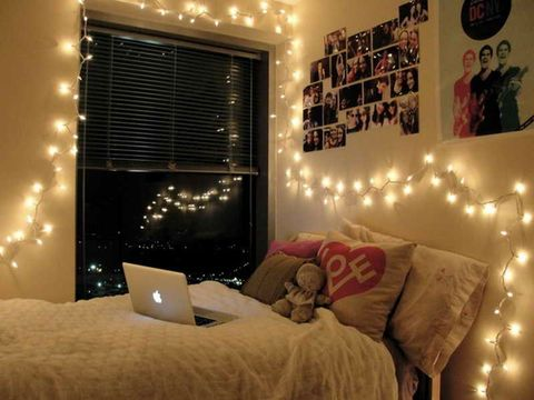 Awesome Fairy Lights For Bedroom Gallery - House Interior Design ...
