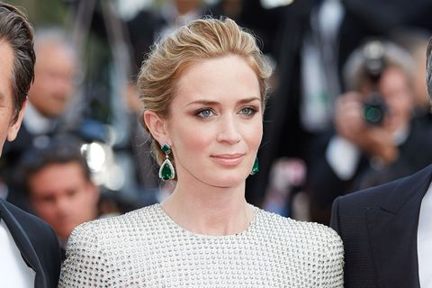 emily blunt on the red carpet at cannes film festival