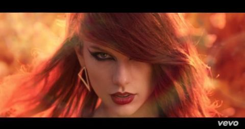 Taylor Swift rocks red hair in the release of her Bad Blood music video, premiering at the Billboard Awards