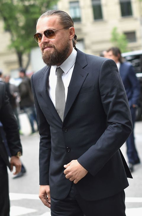 Leonardo DiCaprio wears a suit in Cannes
