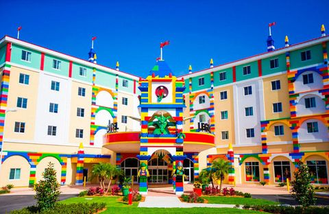 The new LEGO hotel in Florida looks like a migraine