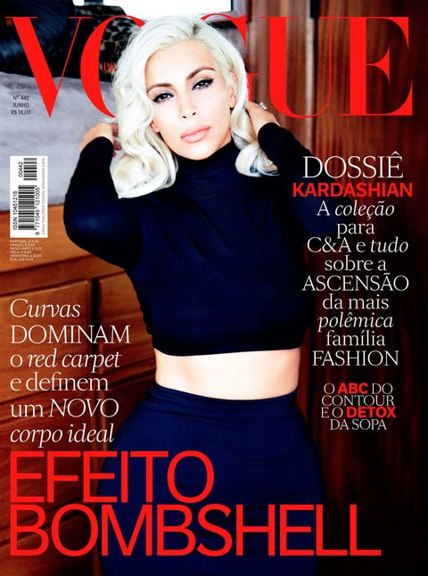 Kim Kardashian channels Marilyn Monroe on the cover of Vogue Brasilia