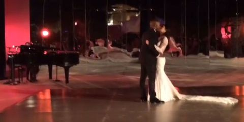 Kim and Kanye's first dance