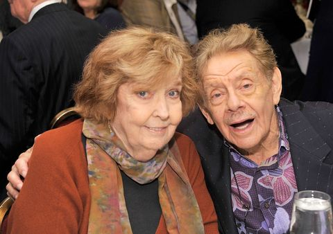Anne Meara and Jerry Stiller at the outer critics circle awards