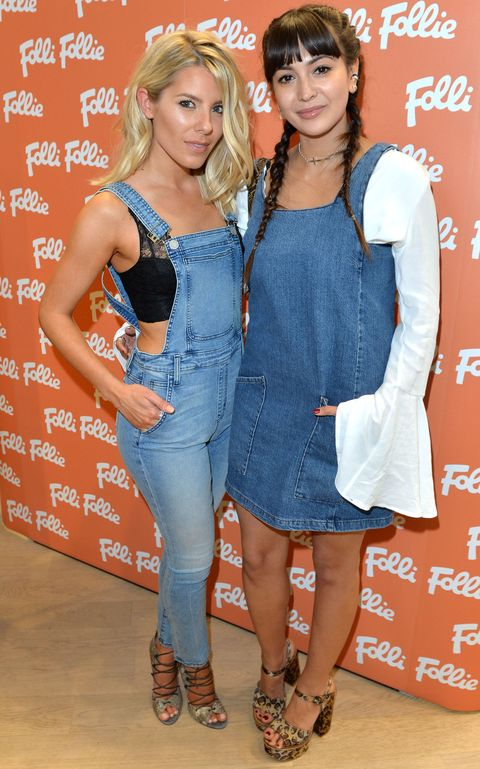 Mollie King and Zara Martin at the Folli Follie store opening