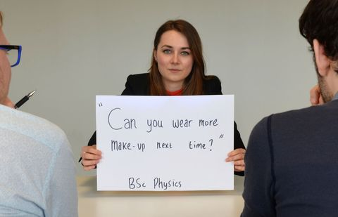 00c3ee432d Photo series of graduates shows the worst ever job interview questions