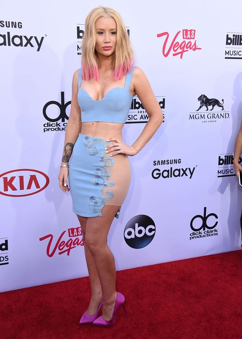 Iggy Azalea on the red carpet at the Billboard Awards