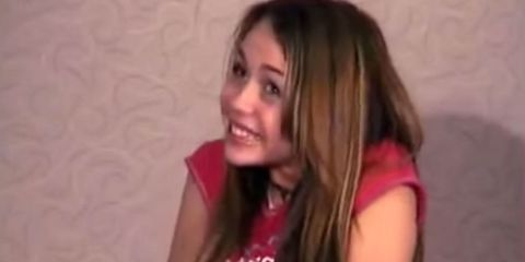 12 year old Miley Cyrus's audition tape from Hannah Montana has surfaced on the internet