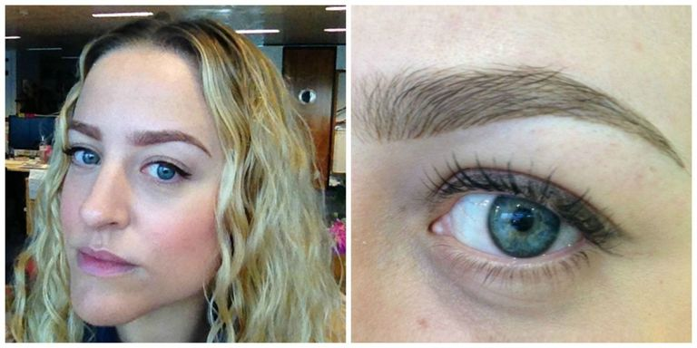 What it\'s like to have your eyebrows tattooed on