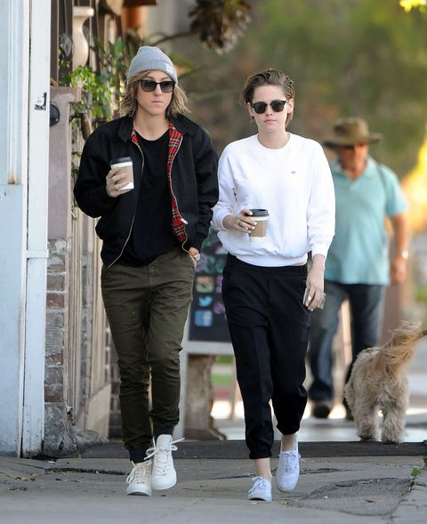 Kristen Stewart and Alicia Cargile walking in Los Angeles with some Starbucks cups