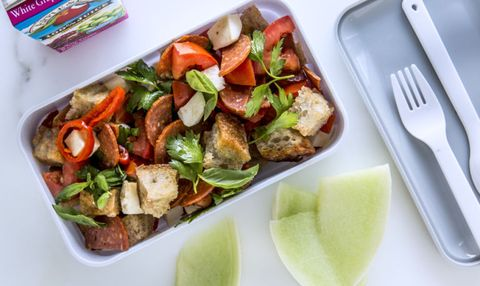 Packed lunch ideas for work healthy packed lunches 5 pepperoni panzanella forumfinder Image collections