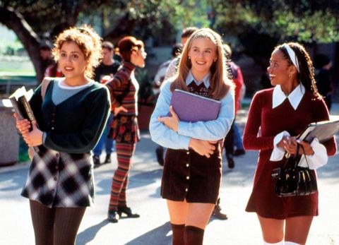 6924ce75fb200 The button-front mini. Clueless anniversary  best Cher Horowitz outfits