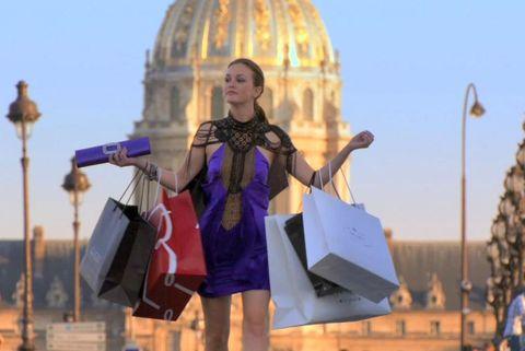 shopping bags shopaholic blair gossip girl