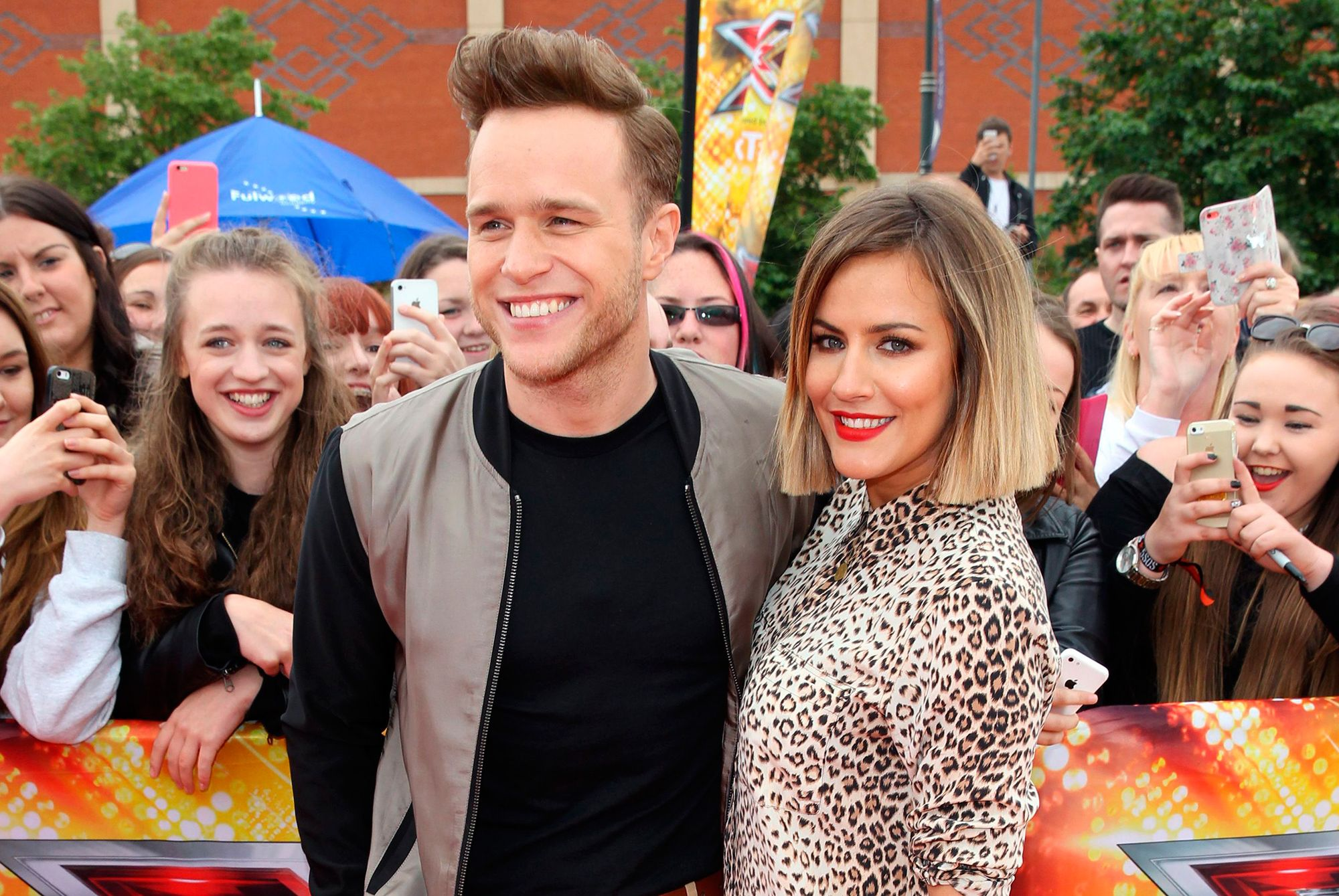 Olly Murs and Caroline Flack at the X Factor auditions 2015