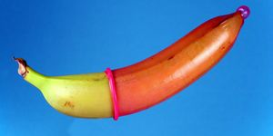 Condom on a banana