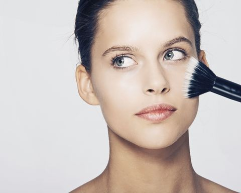 There's a machine that washes your makeup brushes