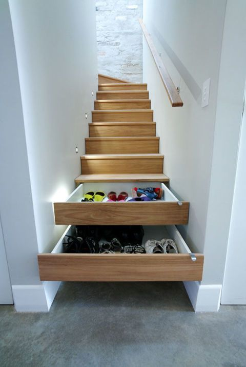 ingenious under stair shelving. In stair shoe storage solutions Beautiful ideas