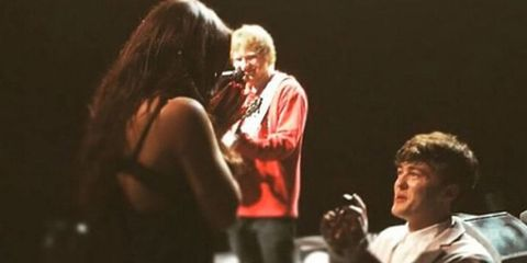 Ed Sheeran just helped Little Mix's Jesy Nelson get proposed to in the BEST way
