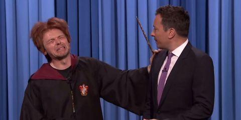 Simon Pegg's drunk Ron Weasley impression makes us sad