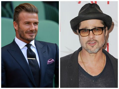 David Beckham and Brad Pitt were all kinds of pally at Guy Ritchie's wedding