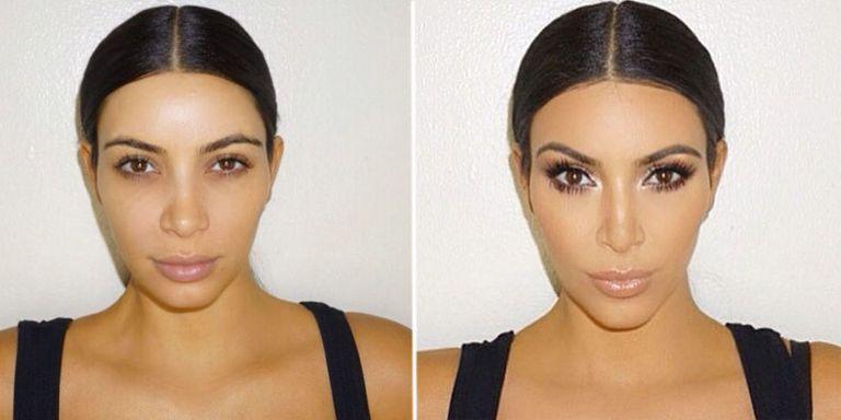 Kim Kardashians Makeup Masterclass Before And After - Before and after makeup photos
