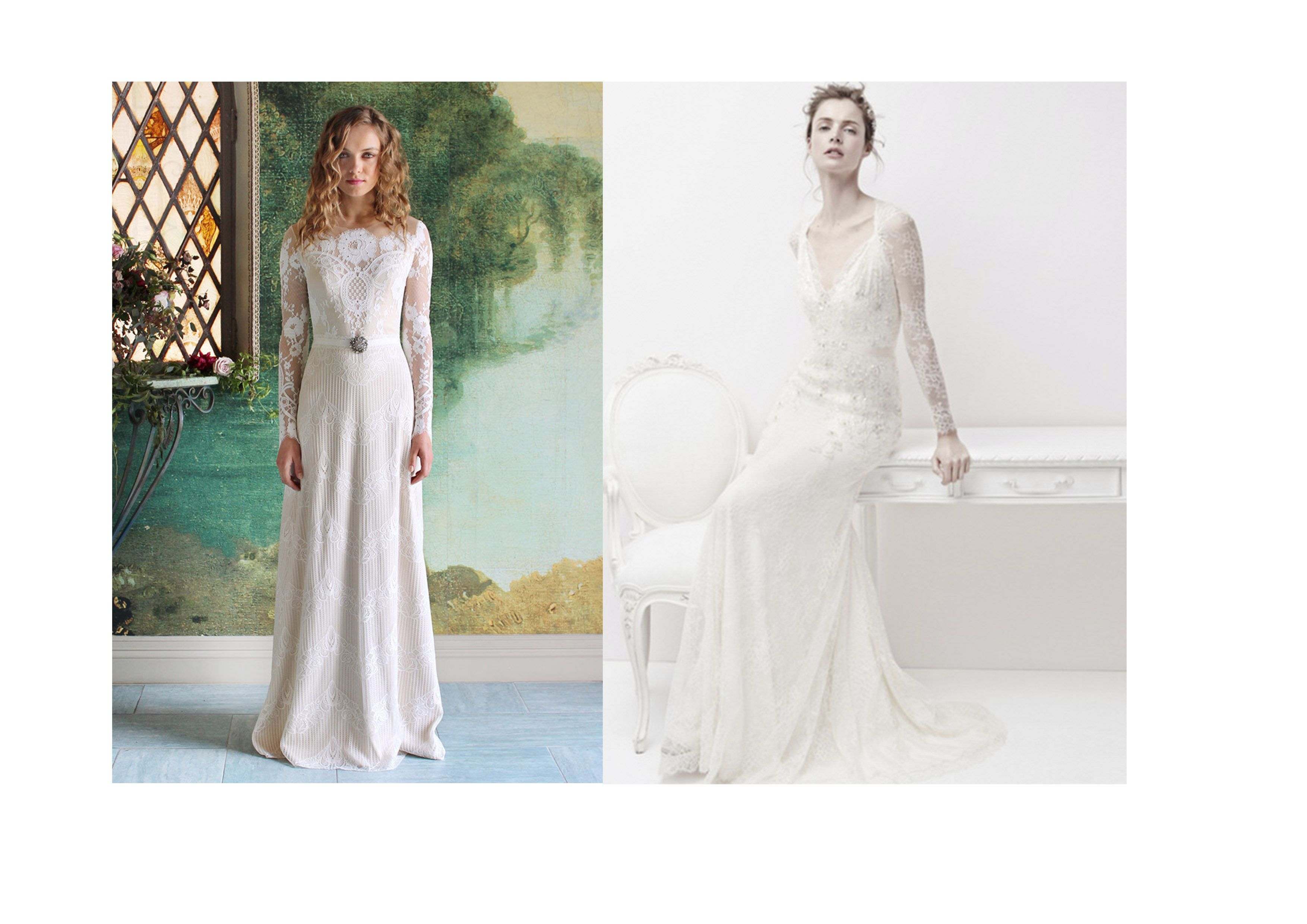 The best wedding dresses with long sleeves