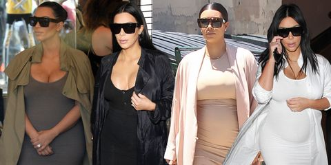 All the times Kim Kardashian wore the same outfit during her pregnancy
