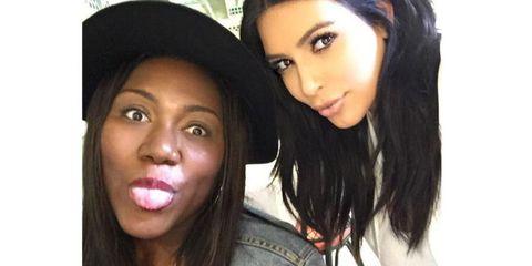 Kim Kardashian and her biggest fan, Myleeza, on her birthday