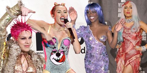 mtv vma awards the most outrageous red carpet outfits ever