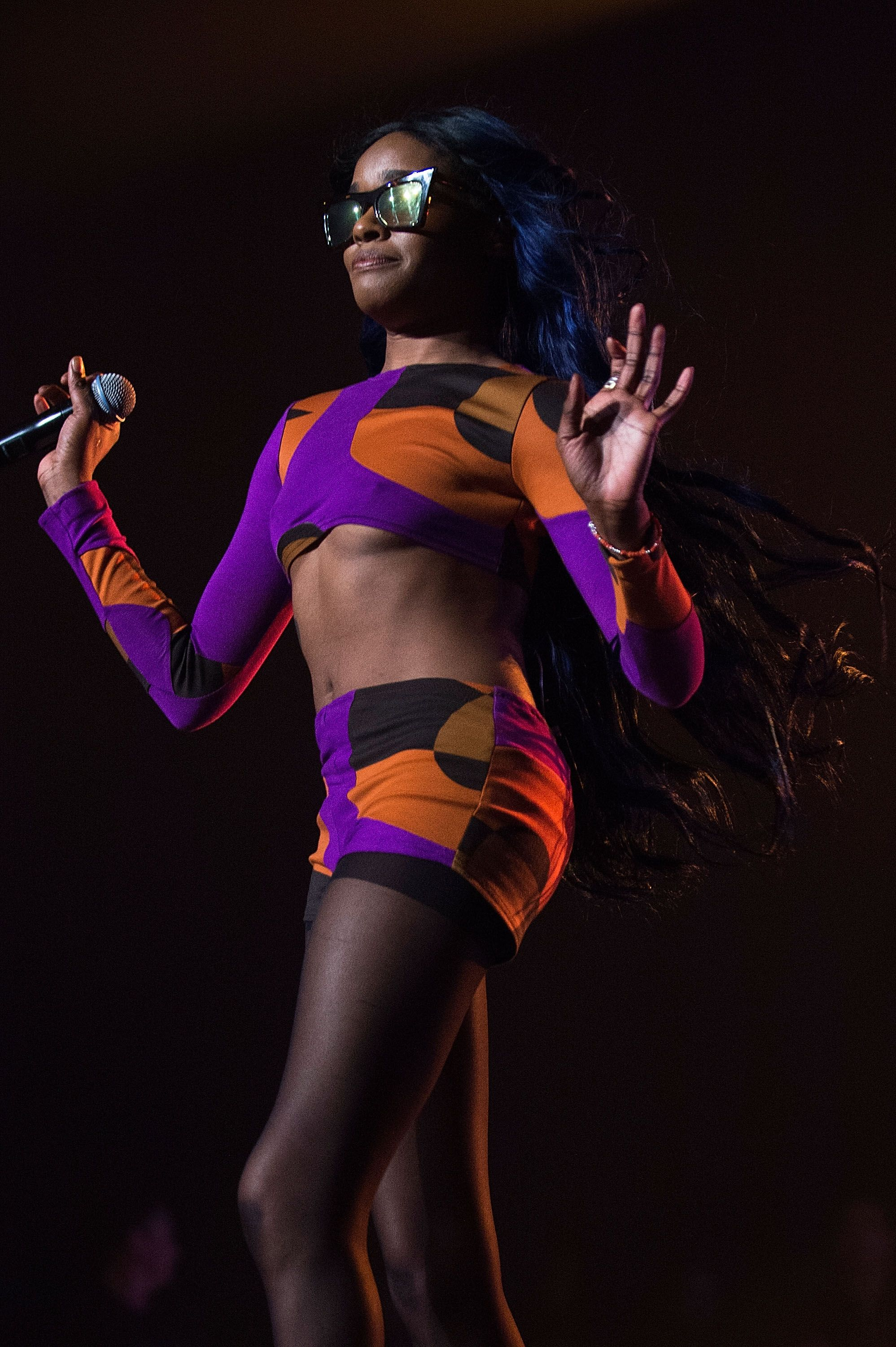 Azealia Banks onstage in New York