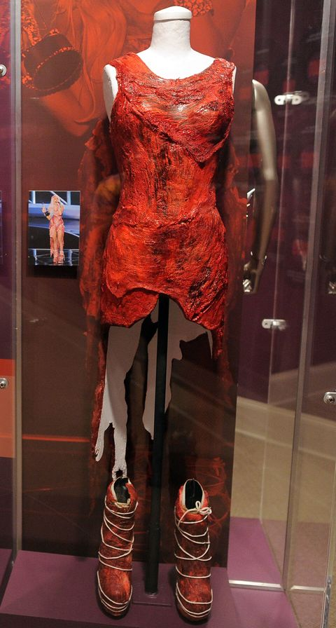 Lady Gaga S Meat Dress Still Exists And This Is What It Looks Like