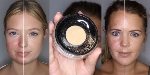 How to cover spots and redness with mineral foundation