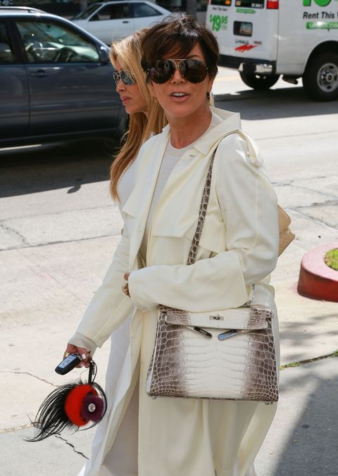 Kris Jenner wearing all white while out in LA
