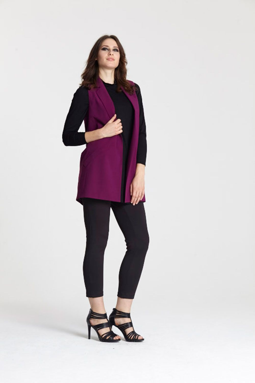 "<a target=""_blank"" href=""http://www.evans.co.uk/en/evuk/product/clothing-250468/as-seen-on-the-catwalk-4743483/evans-plum-sleeveless-jacket-4742140?bi=1&ps=20&cat1=209427&cat2=2577822&productId=21367954&cmpid=par_1_cosmo_wk3_fashfest_03J22TPLE"">Buy the sleeveless jacket</a>, <a target=""_blank"" href=""http://www.evans.co.uk/en/evuk/product/clothing-250468/as-seen-on-the-catwalk-4743483/evans-black-scoop-camisole-4621121?bi=1&ps=20&cat1=209427&cat2=2577822&productId=20740016&cmpid=par_1_cosmo_wk3_fashfest_08B89SBLK"">shirt</a>, <a target=""_blank"" href=""http://www.evans.co.uk/en/evuk/product/clothing-250468/as-seen-on-the-catwalk-4743483/evans-black-pocket-detail-jeggings-2247585?bi=1&ps=20&cat1=209427&cat2=2577822&productId=11953806&cmpid=par_1_cosmo_wk3_fashfest_34S16PBLK"">trousers</a> and <a target=""_blank"" href=""http://www.evans.co.uk/en/evuk/category/clothing-250468/as-seen-on-the-catwalk-4743483?cat1=209427&cat2=2577822&cmpid=par_1_cosmo_wk3_fashfest_blacksandal"">heels</a>"