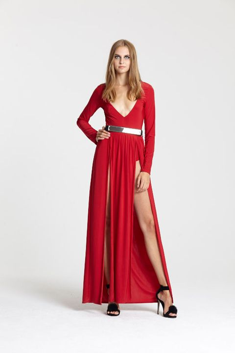"""<a target=""""_blank"""" href=""""http://www.boohoo.com/going-out-dresses/clara-strappy-detail-bodycon-midi-dress/invt/azz31749"""">Buy the dress</a> and <a target=""""_blank"""" href=""""http://www.boohoo.com/high-heels/paige-faux-fur-pom-two-part-heels/invt/azz00139"""">heels</a>"""