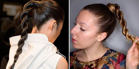 How To Do The New Rope Braid Ponytail