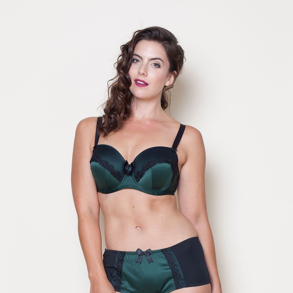 "<a target=""_blank"" href=""http://www.evans.co.uk/en/evuk/product/clothing-250468/view-new-in-4733088/evans-green-satin-underwired-balcony-shelly-bra-4719808?bi=1&amp&#x3B;ps=20&amp&#x3B;cat1=209427&amp&#x3B;cat2=2577496&amp&#x3B;productId=21255647&amp&#x3B;cmpid=par_1_cosmo_wk3_fashfest_15C27TPNK"">Bra</a>, £19.76 and <a target=""_blank"" href=""http://www.evans.co.uk/en/evuk/product/clothing-250468/view-new-in-4733088/evans-green-forest-shelly-knickers-4721402?bi=1&amp&#x3B;ps=20&amp&#x3B;cat1=209427&amp&#x3B;cat2=2577496&amp&#x3B;productId=21255888&amp&#x3B;cmpid=par_1_cosmo_wk3_fashfest_15P07TBLE"">briefs</a>, £9.12, both Evans"