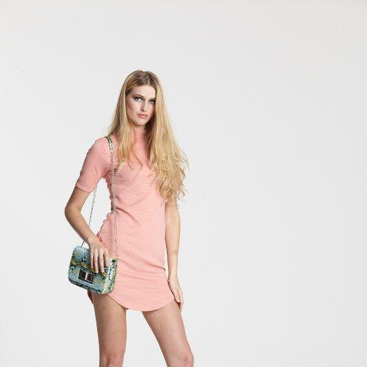 "<a target=""_blank"" href=""http://www.boohoo.com/dresses/tara-turtle-neck-rib-bodycon-dress/invt/azz12678"">Dress</a>, <a target=""_blank"" href=""http://www.boohoo.com"">heels</a> and <a target=""_blank"" href=""http://www.boohoo.com/bags/nicky-snake-cross-body-bag/invt/azz01115"">bag</a>, all Boohoo"