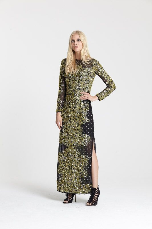 "<a target=""_blank"" href=""http://www.asos.com/ASOS/ASOS-RED-CARPET-Mermaid-Embellished-Maxi-Dress/Prod/pgeproduct.aspx?iid=5357583&cid=2623&sh=0&pge=0&pgesize=204&sort=-1&clr=Black&totalstyles=377&gridsize=3 "">Dress</a> and <a target=""_blank"" href=""http://www.asos.com/ALDO/ALDO-Miroiwen-Black-Leather-Ghillie-Tie-Up-Sandals/Prod/pgeproduct.aspx?iid=5335066&cid=4172&sh=0&pge=0&pgesize=36&sort=-1&clr=Black+suede&totalstyles=1753&gridsize=3"">shoes</a>, both ASOS"