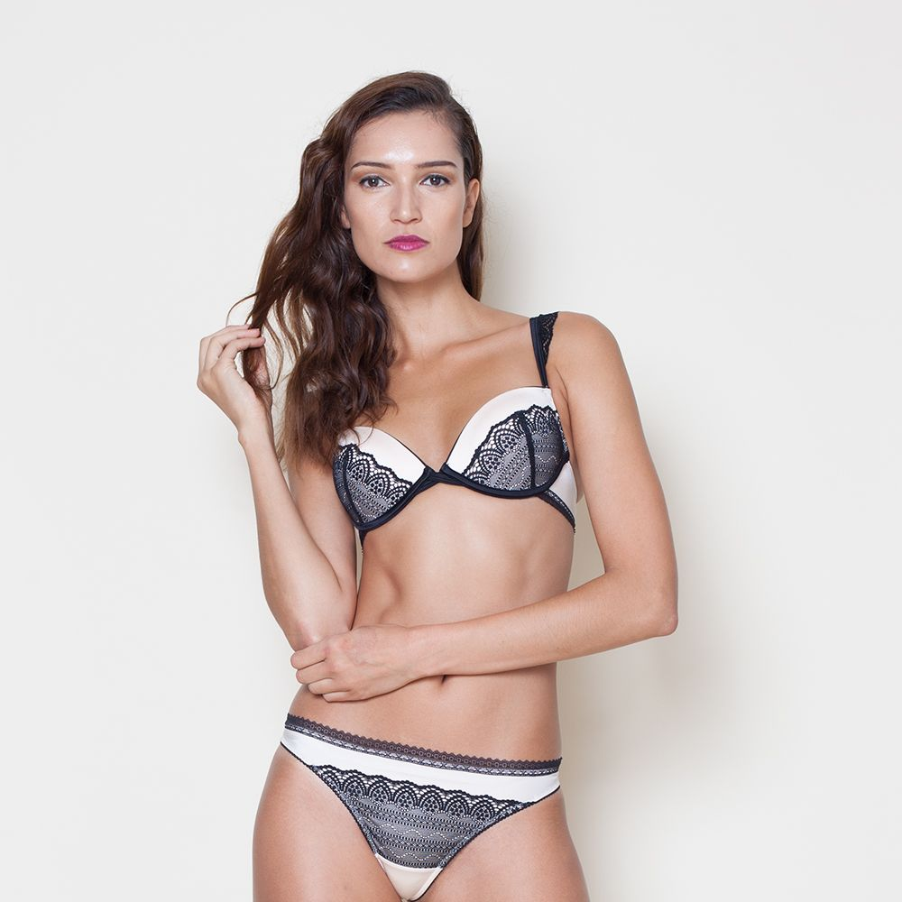 """<a target=""""_blank"""" href=""""http://www.very.co.uk/wonderbra-glam-cleavage-push-up-bra/1460329075.prd"""">Bra</a>, £30 and <a target=""""_blank"""" href=""""http://www.very.co.uk/wonderbra-glam-cleavage-thong/1460329057.prd?crossSellType=item_page.recs_1"""">briefs</a>, £14, both Very"""