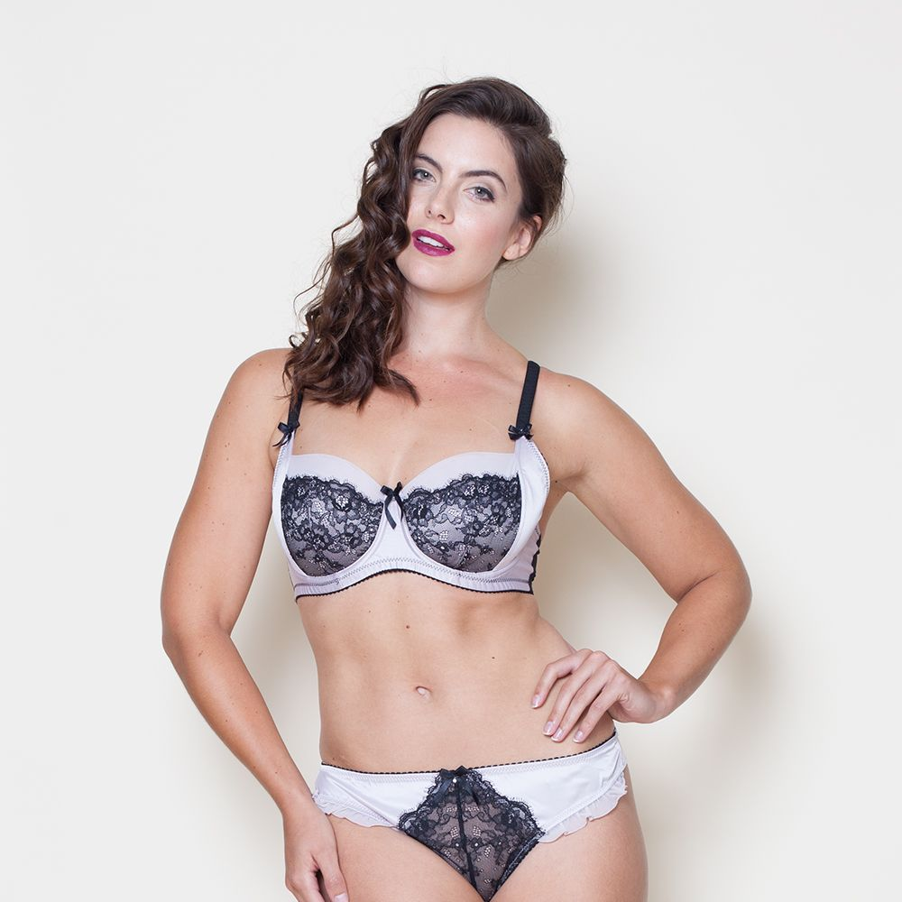 """<a target=""""_blank"""" href=""""http://www.very.co.uk/pour-moi-mystique-bra/1460210797.prd"""">Bra</a>, £26 and <a target=""""_blank"""" href=""""http://www.very.co.uk/pour-moi-mystique-thong/1460210779.prd"""">briefs</a>, £14, both Very"""