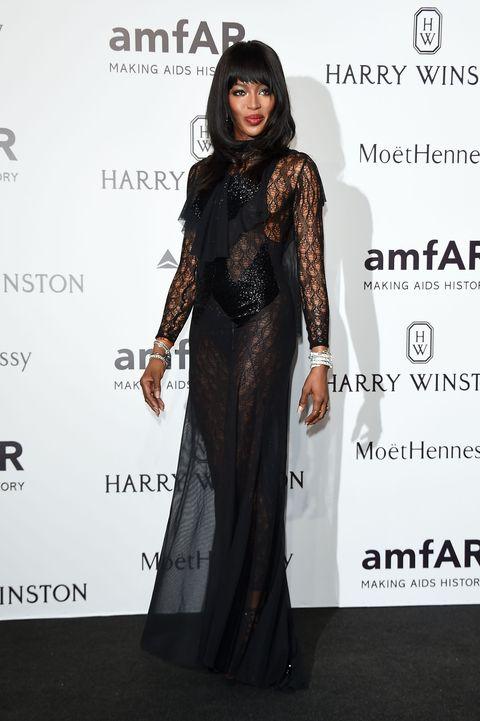 Naomi Campbell at the AmFAR Gala in Milan 2015